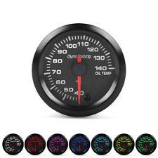 "2"" 52mm 7 Color LED Car Oil Temp Gauge 40-140℃ Oil Temperature Meter With Sensor"
