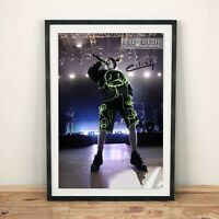 Billie Eilish Onstage Autographed Poster Print. Great Gift/Home Decor for Fan
