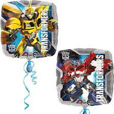 "Lot 2 Transformers Balloon 17"" Foil Mylar Optimus Prime Birthday Party Supplies"