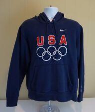 Nike Mens USA Olympics Sweatshirt Hoodie Navy Blue Rings Basketball Dream Team M