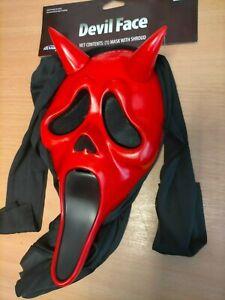 Fun World Devil Face Ghost Face Ex Shop Display Halloween Mask