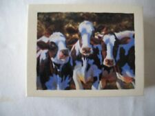 "NEW - GWS Artist Bonnie Marris Deluxe Note Cards image ""Dairy Queens"" - Cow Card"