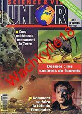 Science et vie junior n°34 du 02/1992 Météores Fourmis Terminator