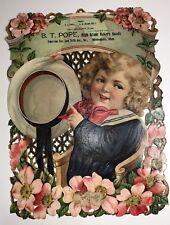 1900 Pope Bakery MINNEAPOLIS Minnesota Large Die Cut Calendar Sign Sailor Boy