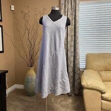 Kleen Sleeveless Linen Swing Dress, size M, Lagenlook