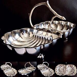 "Rare Antique Ornate William Hutton & Sons 12.5""/32cm Silver Plated Serving Dish"