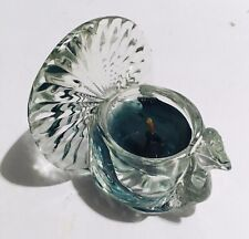 Avon Shimmering Peacock Candle Holder - Softscent candlette - 1979 Nos