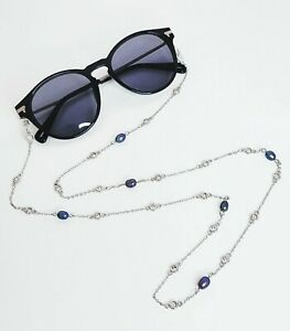 Sunglasses Chain Holder 18ct Gold Filled Natural Pearls Zircons Glasses Gift