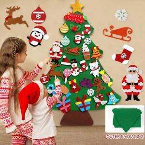 Kids DIY Felt Christmas Tree Santa Ornaments Wall Door Hanging Decor Xmas GiftUK
