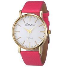 NEW Women Geneva Simple Leisure Leather Strap Watch Analog Quartz Wrist Watches