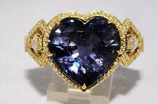 24.01ct Agta Zert. keine Wärme Natürlich Color-Change Saphir & Diamant Ring