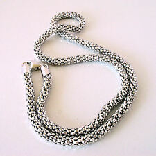 The Best Thick 4.3 MM Sterling Antiqued Popcorn Chain Super Long 24 Inch Length