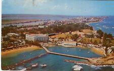 Puerto Porto Rico San Juan Normandie & Escambron Beach Hotels 1961 cover on PPC