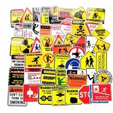 50Pcs Warning Sticker Waterproof Reflective Sticker Bicycle Guitar Sticker Great