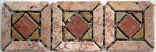 Rosone rosoni mosaici in marmo incollati su rete greca art116 verdeIN MARMO