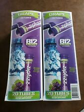 2 CASES Zipfizz Grape Healthy Energy Drink Mix Pack of 20 FOR A TOTAL OF 40