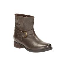 Clarks - Dark Taupe Verlie Bali Ankle boot- UK 4 EU 37 D Fit JS46 98
