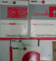ProComm Software (manual & disk) + MultiModem Manual 1988 by Multi-Tech Systems