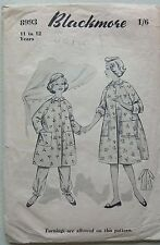 Vintage 1950's Sewing Pattern Blackmore 8993 Girl's Dressing Gown 11-12 Years