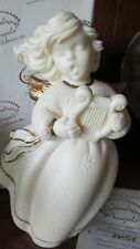 """New Windsong Angels 7"""" Angel with Harp Figurine Roman 83652 Made Italy"""
