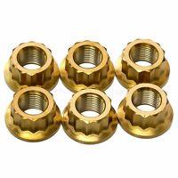 6x Gold Titanium Rear Sprocket Nuts Ducat 1098, 1198, Panigale 1199, 1299 S R