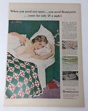 Original Print Ad 1951 BEAUTYREST Matress Coby Whitmore Art
