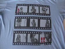 RARE Bernard Of Hollywood Sexy Topless Girl film strip scene T Shirt Men's XL