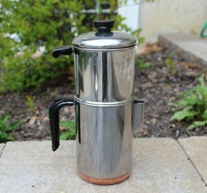 Vintage 1801 REVERE WARE 8 Cup Drip-O-Later Percolator Coffee Pot Copper Bottom