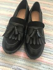 Ladies Black Loafers Size 6 Worn Once
