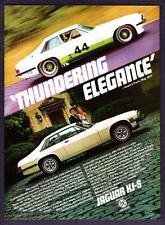 """1978 Jaguar XJS XJ-S Coupe/Racer photo """"Thundering Elegance"""" vintage print ad"""