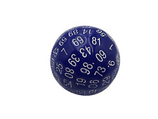 SkullSplitter Single 100 Sided Polyhedral Dice (D100) | Solid Blue Color (45mm)