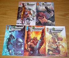 Mega Dragon & Tiger #1-5 VF/NM complete series - image comics manga - tony wong