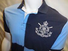 Ralph Lauren Polo Men Athletic Division Shirt Sz XL Button Front Blue NWT XLarge