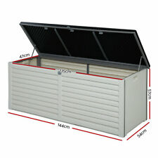 Outdoor Storage Box Bench Seat Toy Tool Sheds 390L