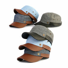 Unisex Mens Womens Mqum Denim American Casual Military Cadet Cap Trucker Hats