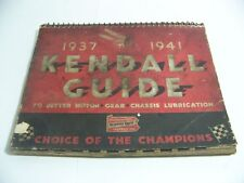 KENDALL LUBRICATION GUIDE 1937-1941