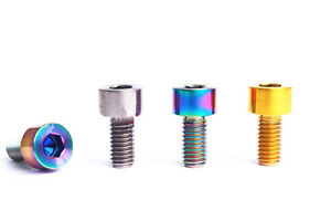 4x M5 X10mm Titanium Ti Bicycle brake handle fixed screw bolts cylindrical Head