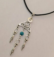 Triquetra Goddess Pendants Necklace Celtic Knot Necklace Good Luck Necklace USA