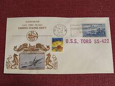 Crosby Submarine Naval Cover - 1953 - Sub Base Cancel - USS Toro SS-422