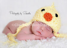 Easter Chick baby hat, Cute unisex beanie, 0-3 Months, newborn photography prop