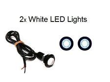 """2 NEW 3/4"""" WHITE LED CLEARANCE MARKER BULLET TRAILER MARKER SIGNAL LIGHT"""