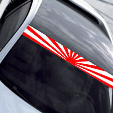 1PC JDM Style Rising Sun Sun Visor Windshield Reflective Vinyl Car Sticker Decal