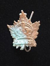Victorian? Brass? Canada Canadian Military Militia Badge Maple Leaf Crown