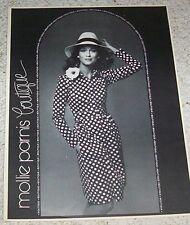1973 ad page - LAUREN HUTTON for Mollie Parnis boutique fashion vintage PRINT AD