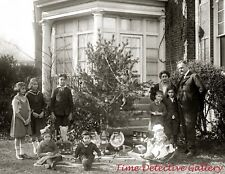 An Outdoor Christmas - 1921 - Historic Photo Print