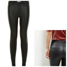 Ladies New Look COATED Super Skinny Jeans Black Sizes 4-20 Leg 24-32