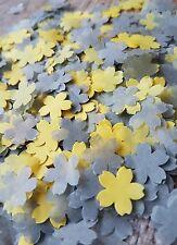 10 HANDFULS OF GREY & YELLOW FLOWERS  WEDDING THROWING CONFETTI/ DECORATION/ECO