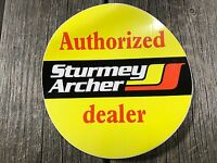 STURMEY ARCHER AUTHORIZED DEALER STICKER VINTAGE MUSCLE BIKE BICYCLE NOS ENGLAND