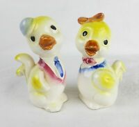 Vintage ceramic per of ducks home decor figurine collectible Japan