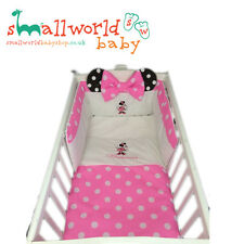 Personalised Girls Pink Minnie Mouse Cot Cotbed Bedding (NEXT DAY DISPATCH)